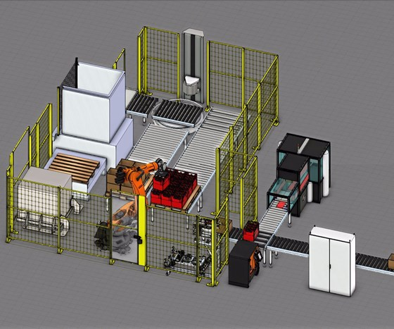 simulation using Visual Components software