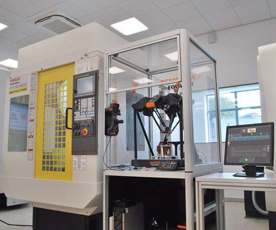 Renishaw's equator system operates on the shop floor near machine stools