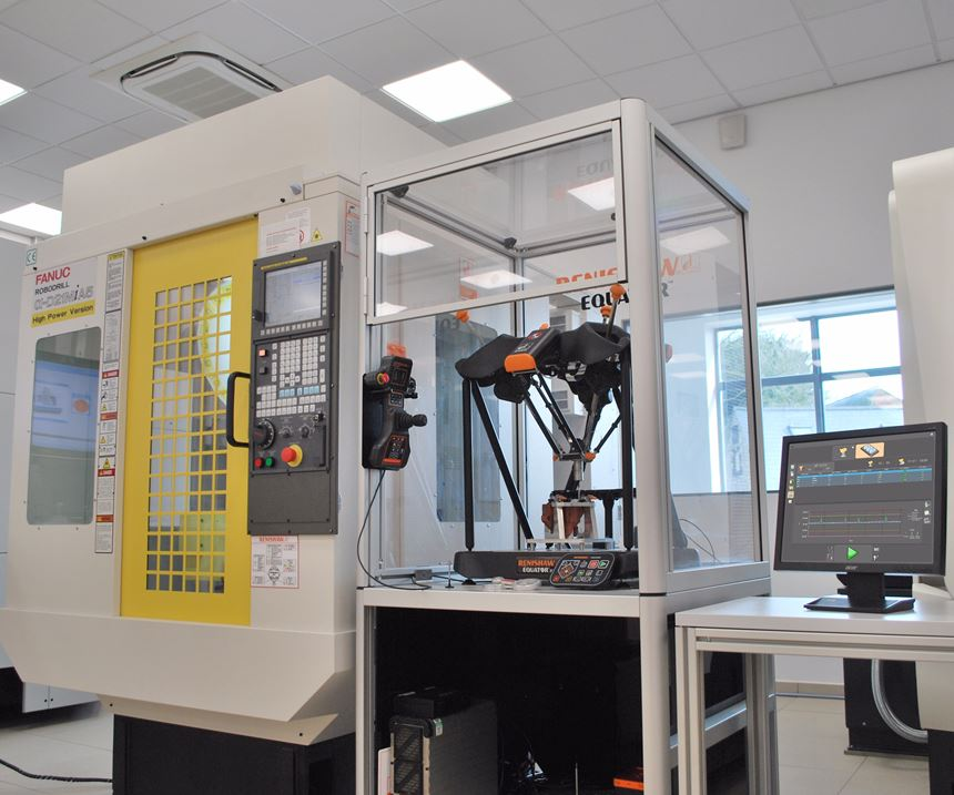 Renishaw's equator system operates on the shop floor near machine stools