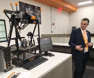Ben Spokes of Renishaw demonstrates IPC Software on the Equator's part measurements