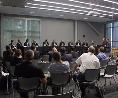 digitalization panel discussion at Sandvik Coromant