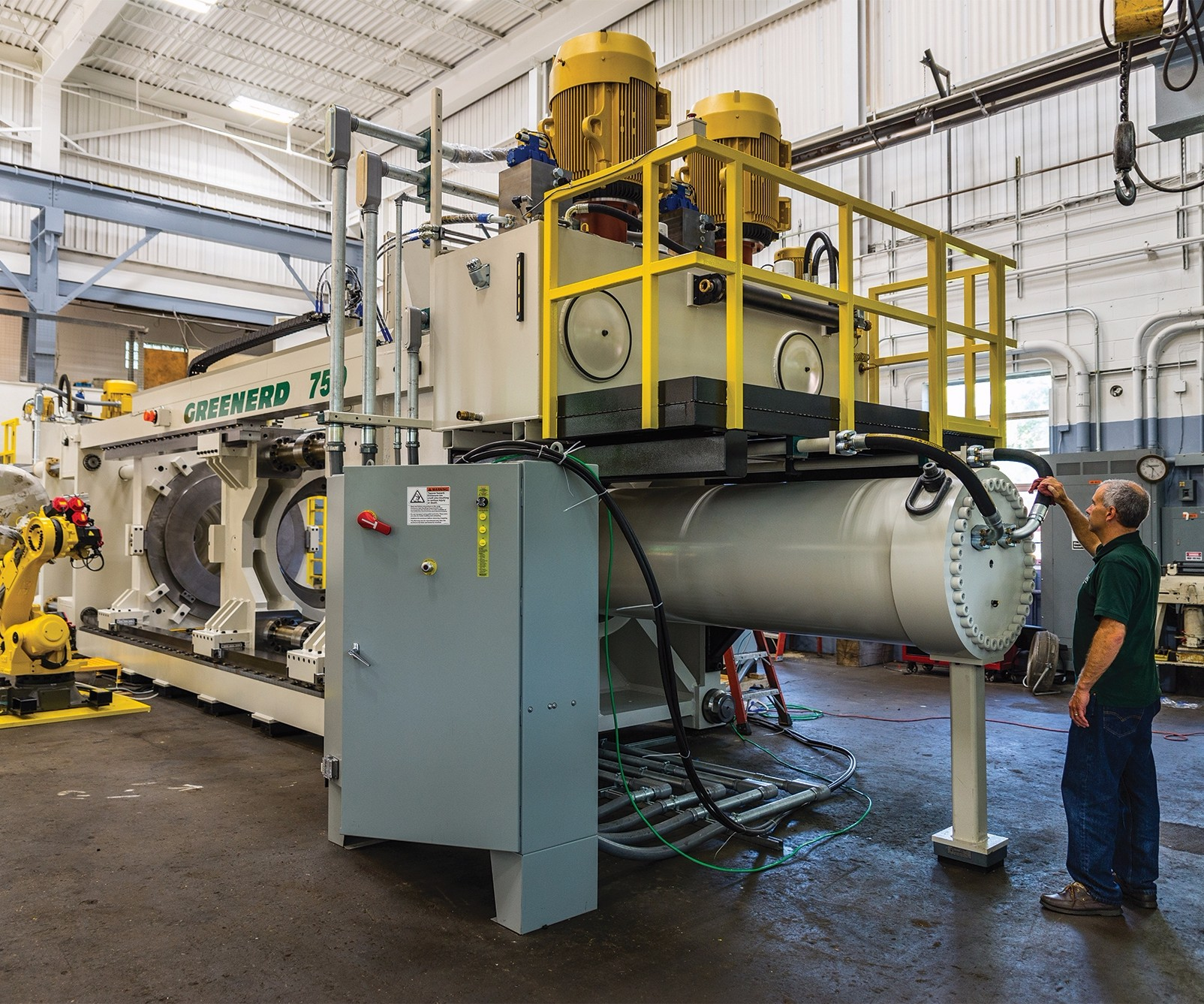 Automated deep-draw hydraulic press
