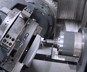 Five-axis horizontal machining center