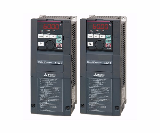 FR-A800 and FR-F800 variable frequency drives