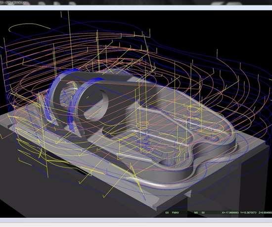 Screenshot of CNC verification software