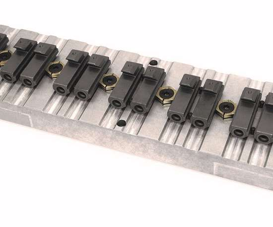 Small, low-profile screw-down clamps