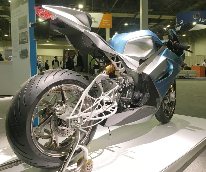 Lighting Motorcycle swingarm