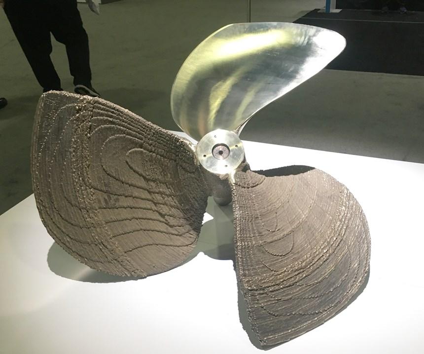 printed marine propeller
