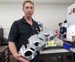 Aluminum hogout machined on 50-taper machining center