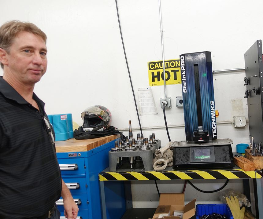 Shop manager with shrink-fit heating unit