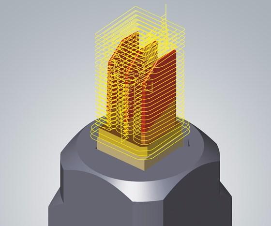 Screenshot of Open Mind Technologies CAD/CAM module