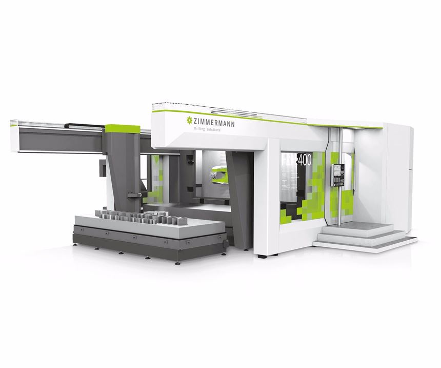 Zimmerman FZH400 five-axis machining center