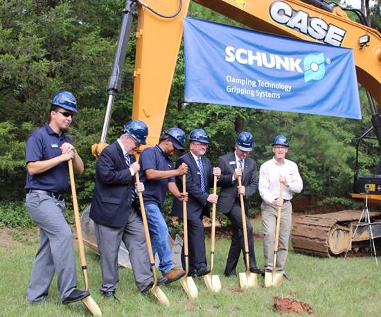 breaking ground at Schunk's U.S. headquarters