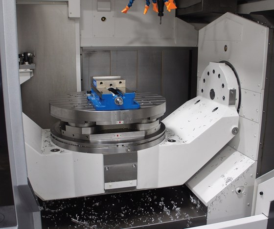 five-axis trunnion machine