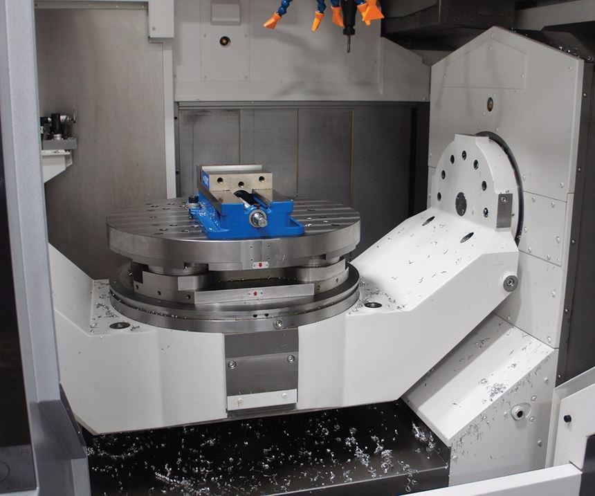five-axis trunnion machine