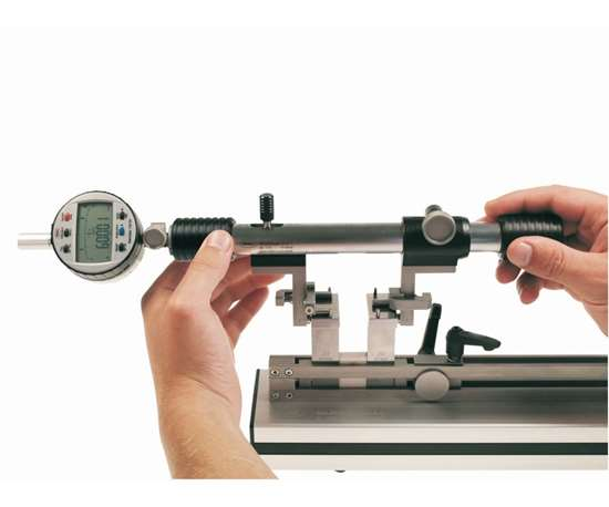 bore-setting gage with a gage-block-stack assembly