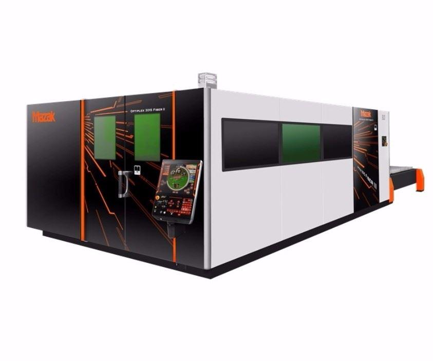 Mazak Optonics Optiplex Fiber III 8kW laser-cutting system