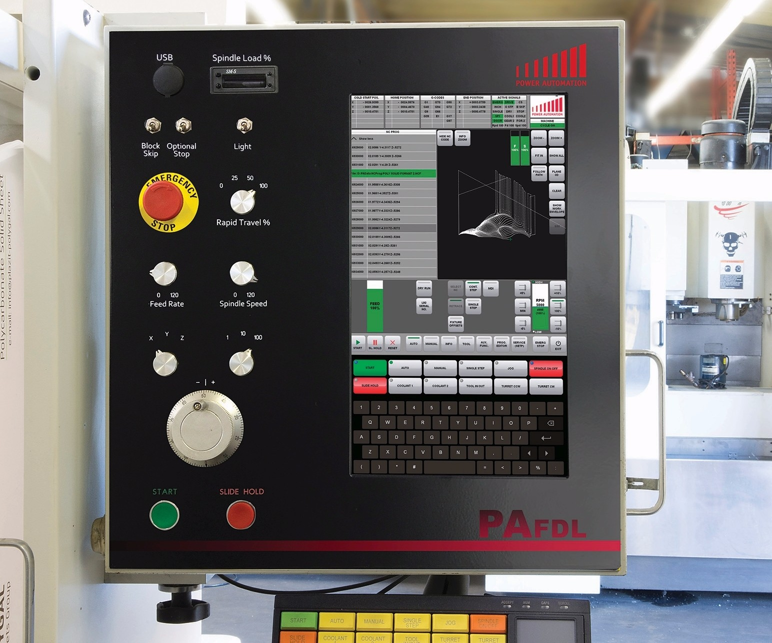 Power Automation America's PA FDL Fadal turnkey retrofit operator panel