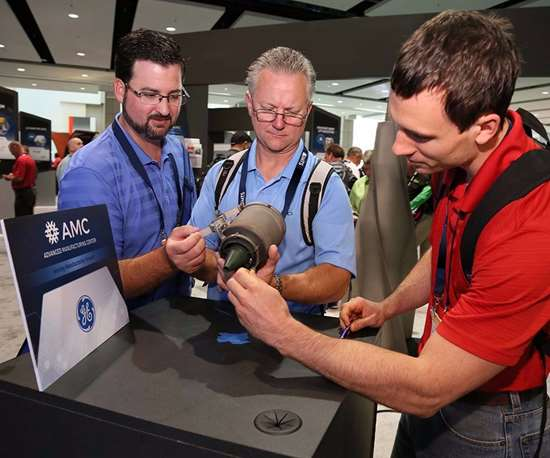 Manufacturers from all levels inspect new technology at the Advanced Manufacturing Center at IMTS.