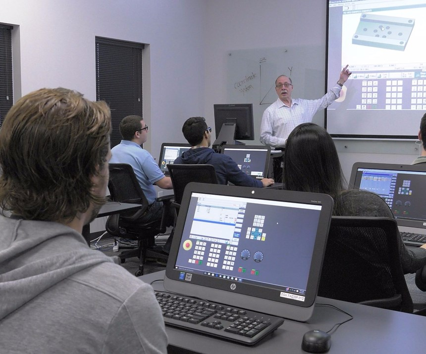 Classroom at Siemens' Technical Application Center