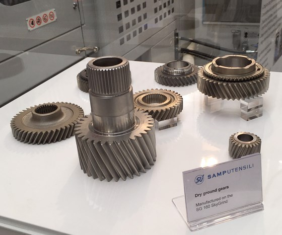 gears on display at EMO trade show machined on Star SU's Skygrind