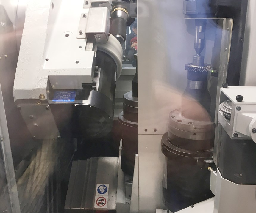 Star SU's Skygrind changes parts using parallel X axes driven by linear motors