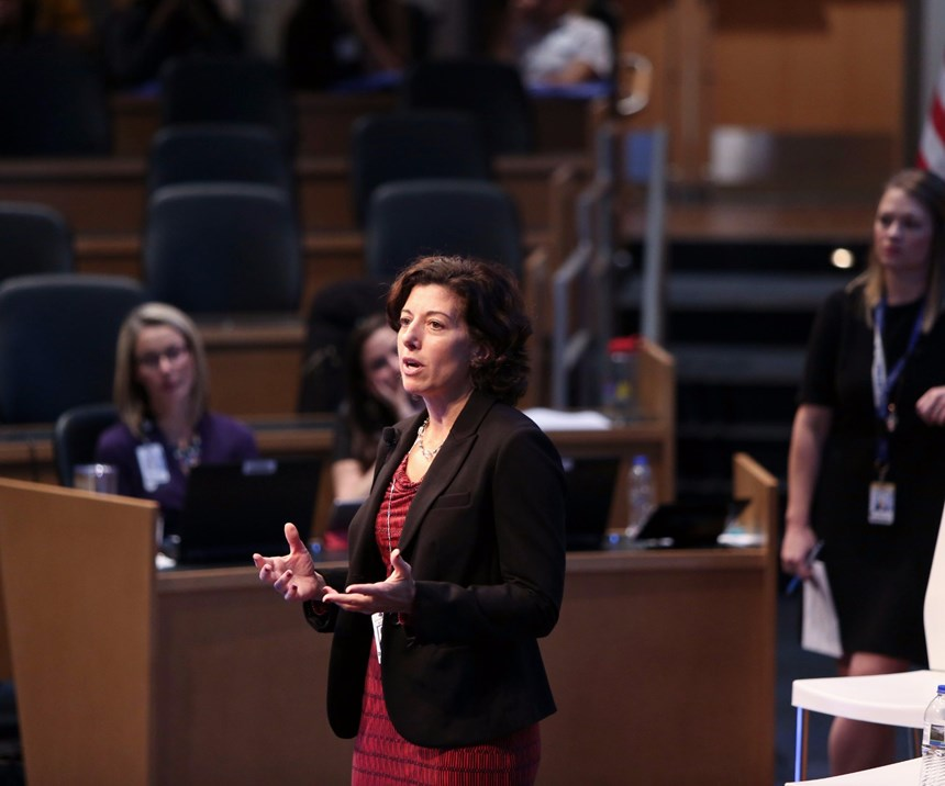 Alicia Hammersmith, general manager of materials value stream at GE Aviation's supply chain division, gave a keynote address