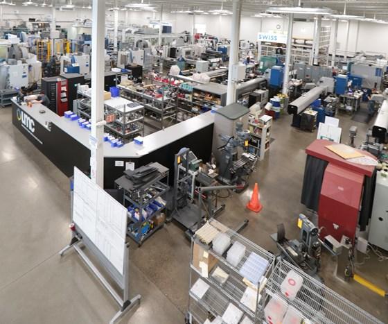Ultra Machining Co.'s shop floor