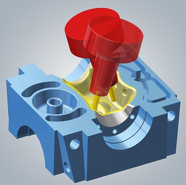 DMG MORI,CAM设计用于五轴加工。