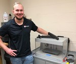 Ben Pruitt with the Markforged Mark Two additive manufacturing system