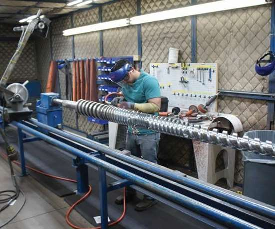 polishing a screw