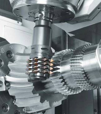 Mazak gear cutting on machining center