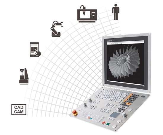 Heidenhain's StateMonitor software for evaluating machine data.