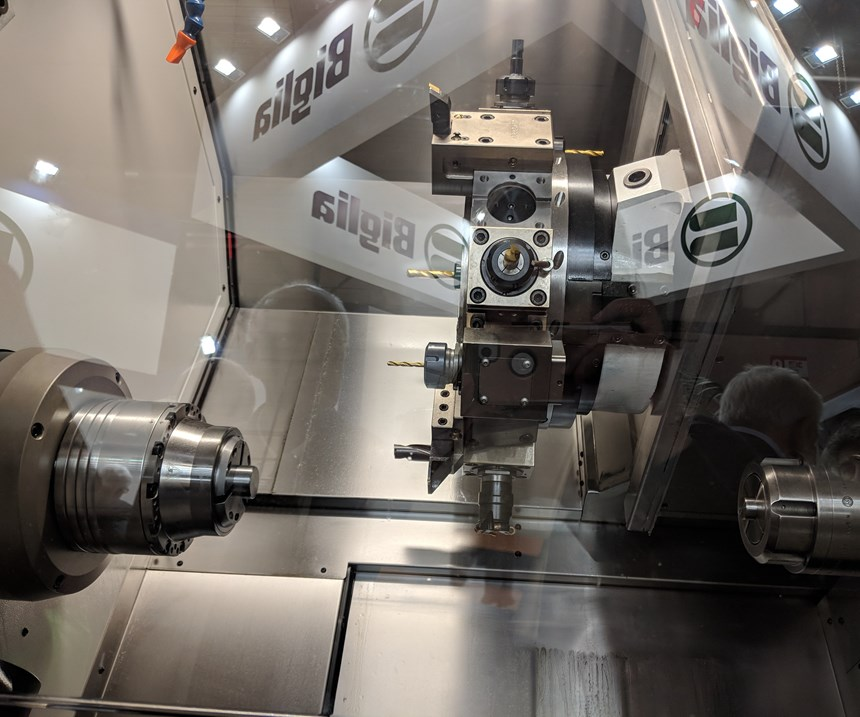 Biglia turning center with subspindle