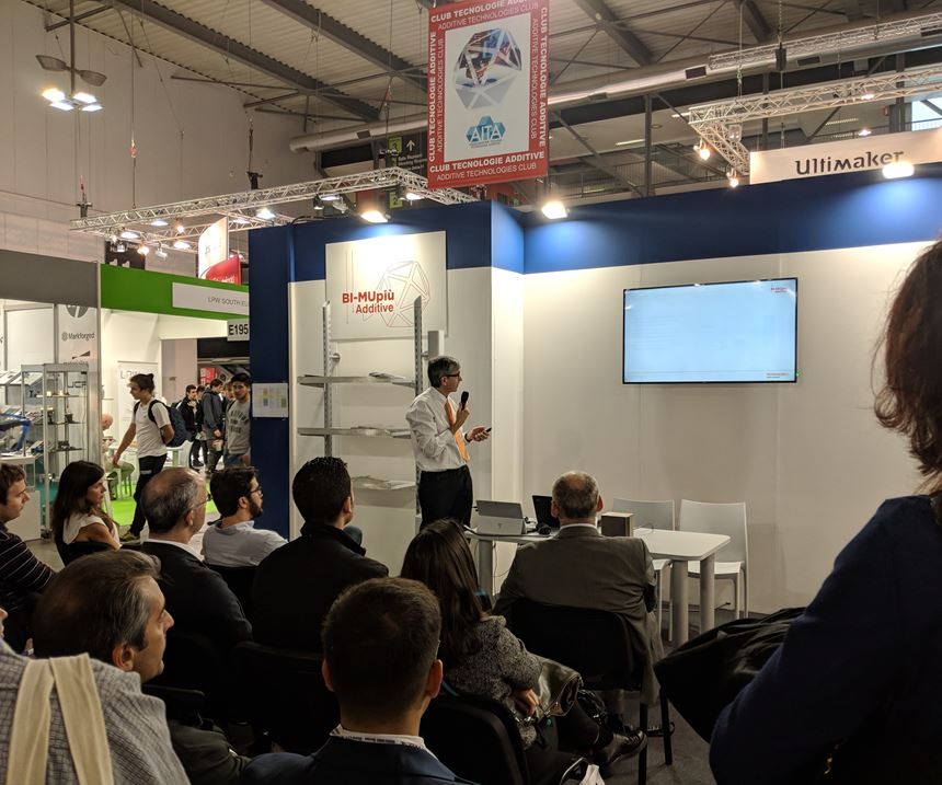 Presentation on additive manufacturing at AITA's booth