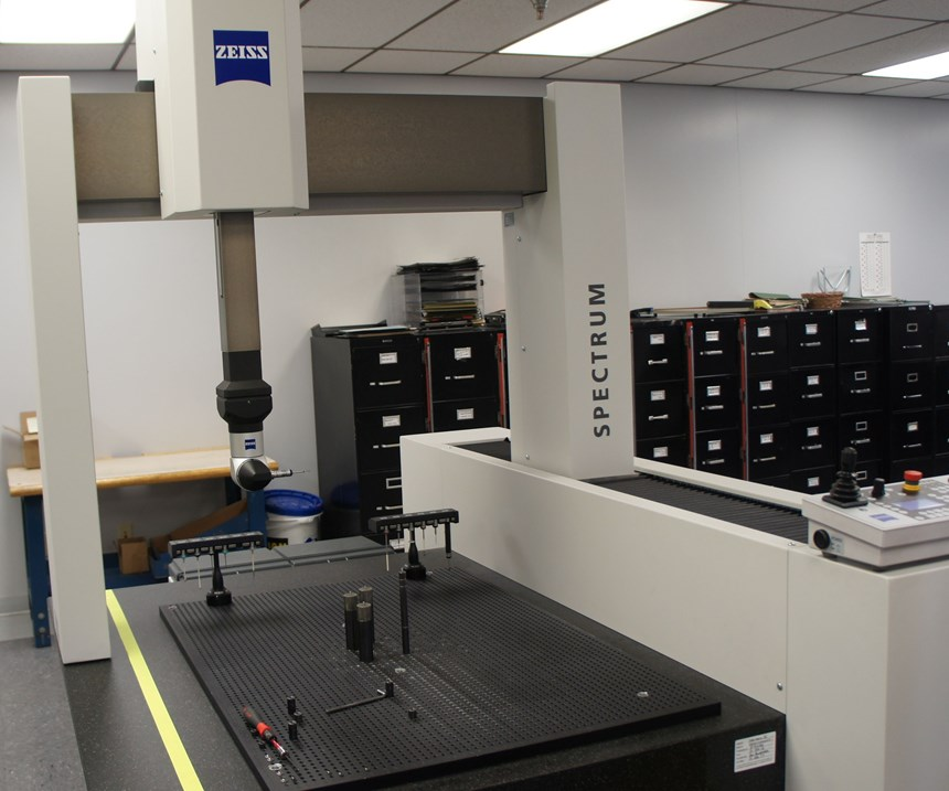 The shop's first coordinate measuring machine (CMM) is a Spectrum from Carl Zeiss.
