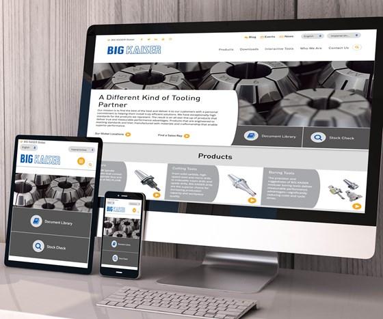 Big Kaiser website on desktop, tablet, phone screens