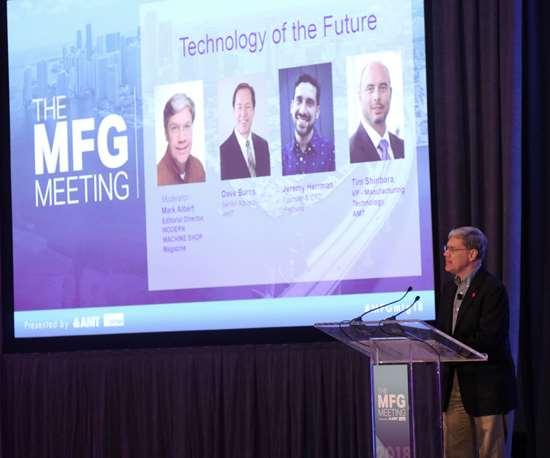 Mark Albert introduces panel at MFG Meeting