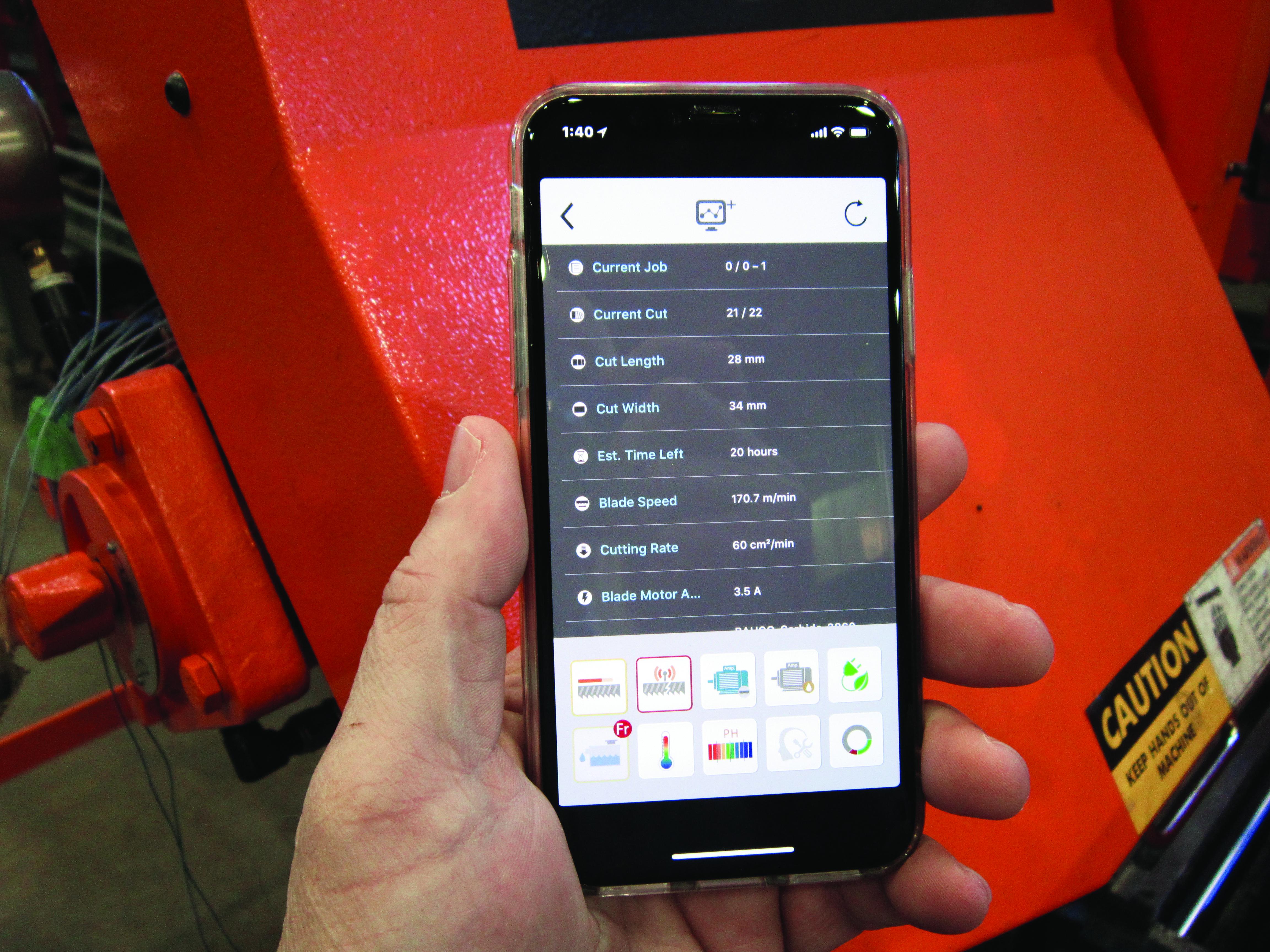 Cosen SawLogix app for predicting saw blade life