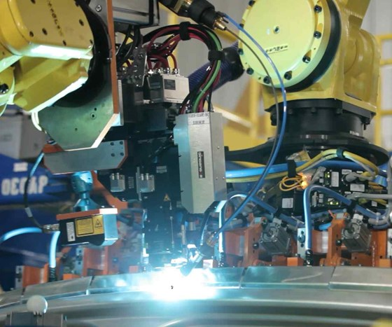 laser-welding aluminum for Cadillac CT6