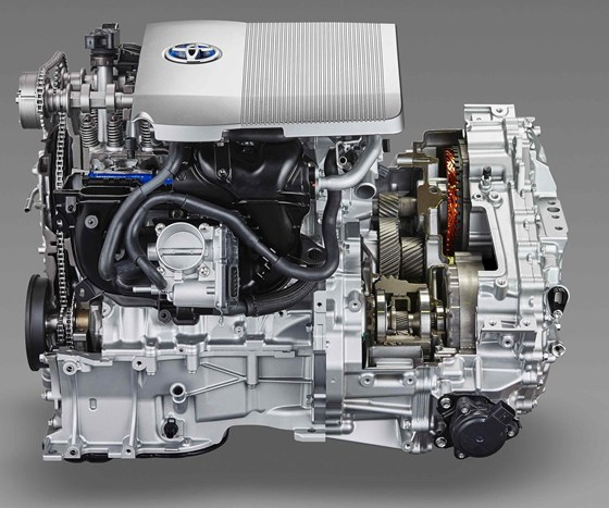 cutaway of the Toyota Prius powertrain