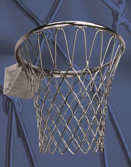 machined basketball hoop