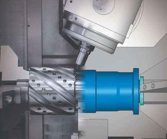 digital twin of main shaft machining