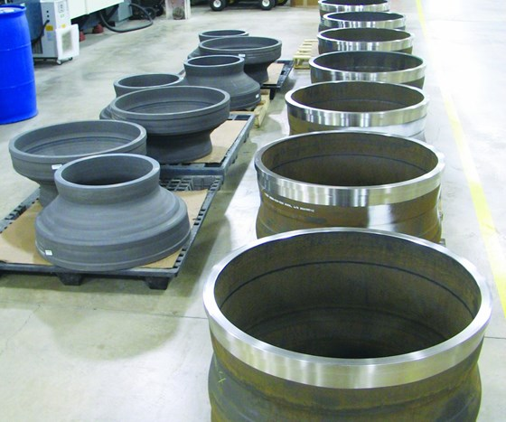 turbine casings are typical power generation parts