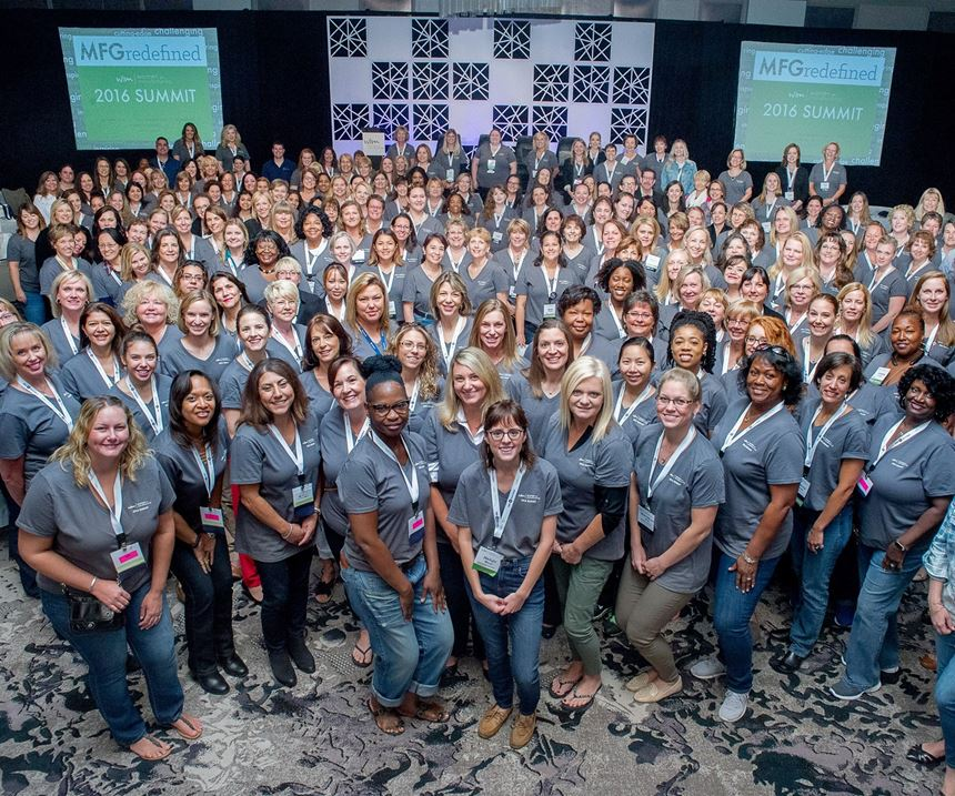 group of women at Women in Manufacturing summit