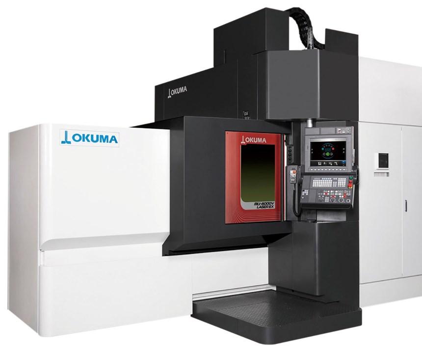 okuma hybrid additive manufacturing machine toole
