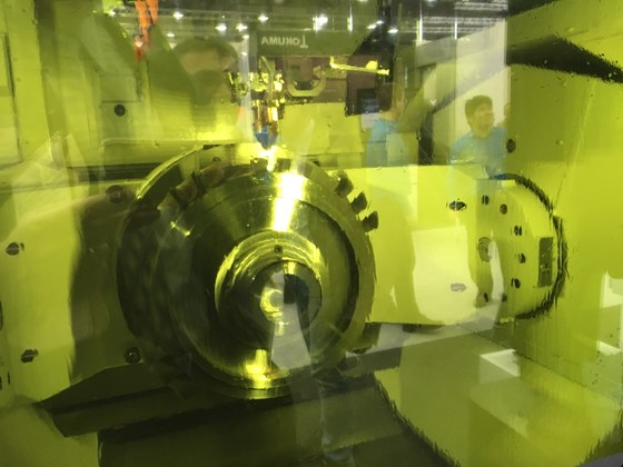 inconel blades built onto a steel hub via additive manufacturing by okuman
