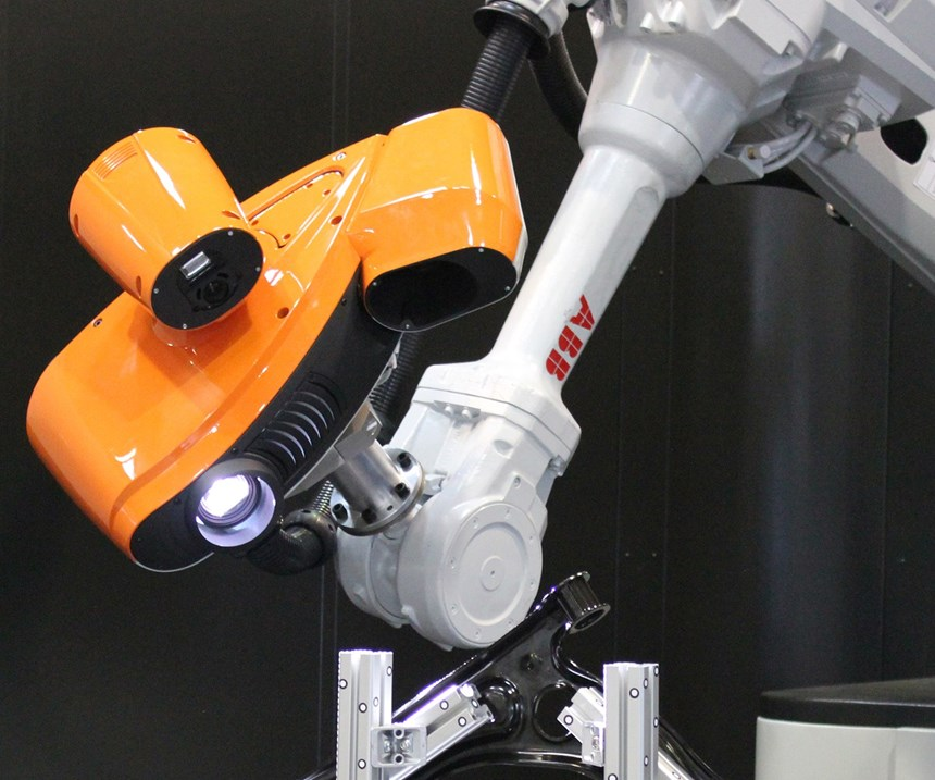 robot with white-light scanning sensor for automotive inspection and other part inspection