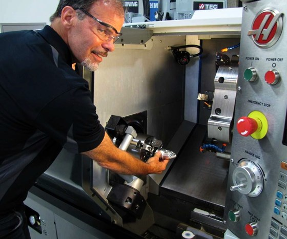 Doug Bowman with Haas ST-30SSY multitasking lathe