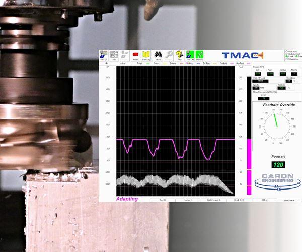 对于钛,工具监测平滑低转/分削减图像